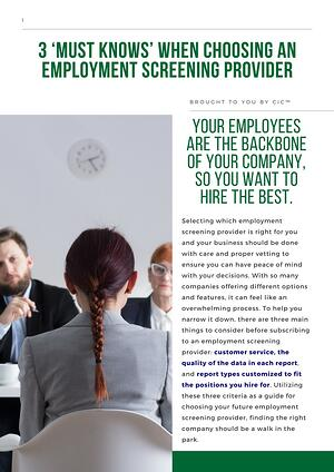 General Employment Screening White Paper (IMAGE)